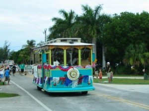 Sanibel Trolley in Parade