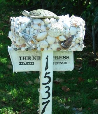 Briefkasten mit Muscheln zum Nachbasteln geeignet