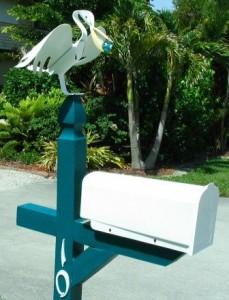 US Mailbox mit Pelikan