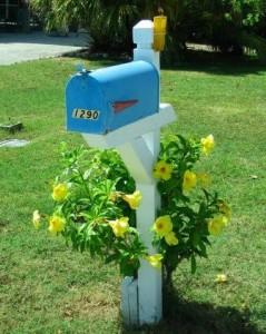 blauer Briefkasten / US Mailbox