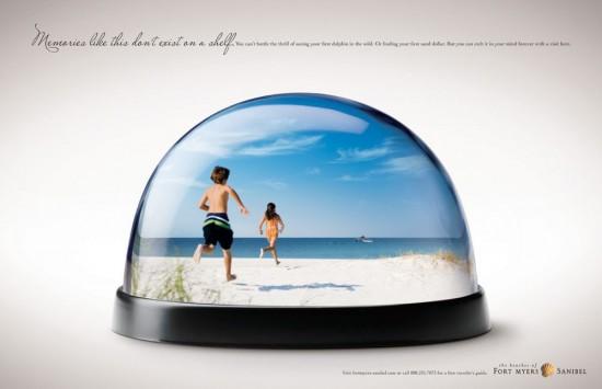 Werbung für Sanibels und Captivas Sandstrände