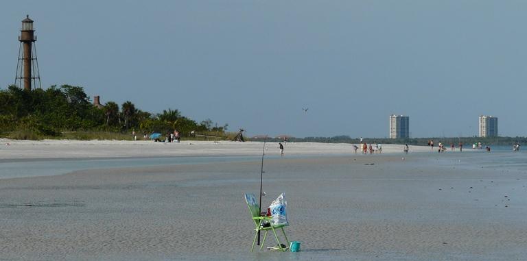 Angeln am Strand Florida