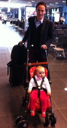 Kinderwagen bis zum Flugzeug