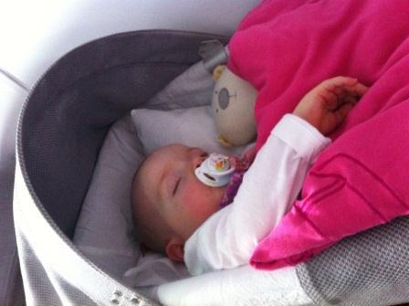Babybett an Bord