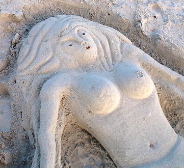 Meerhungfrau aus Sand